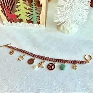 Jewelry - ✨NWOT Lovely Brown & Gold Charm Bracelet💛✨